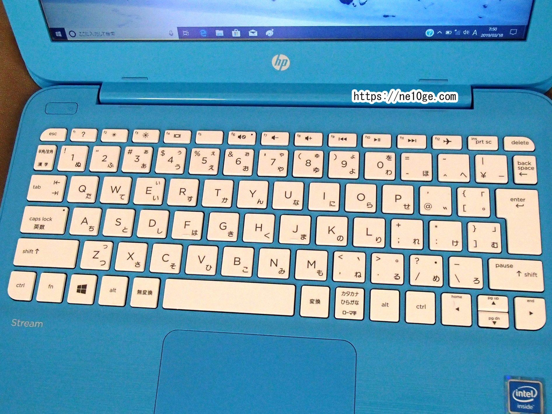 HP Stream 11-y004TU キーボード