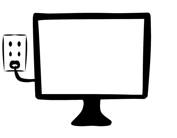 インターネット回線を利用したテレビの図
